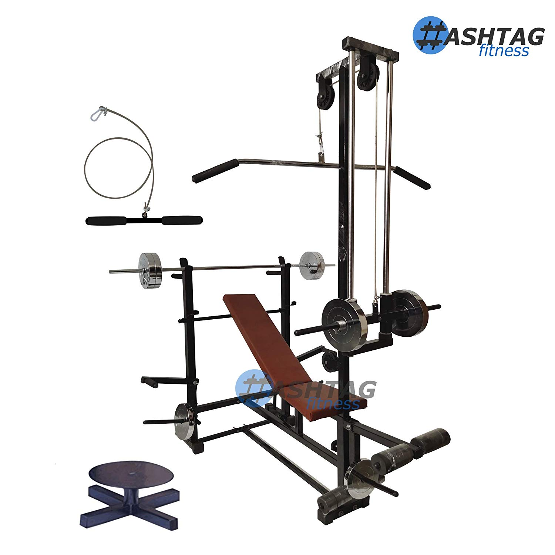 latpull down gym machine 50kg steel gym equipments with Preacher Curl