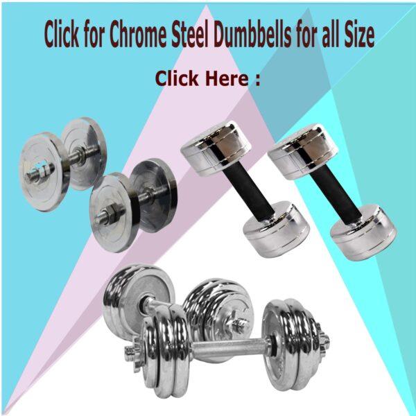 Steel Chrome Dumbbells